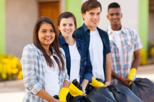 involve teens in rubbish clearance